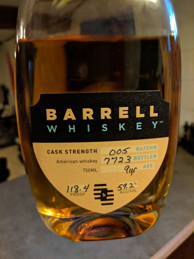 Barrell Whiskey Batch 005