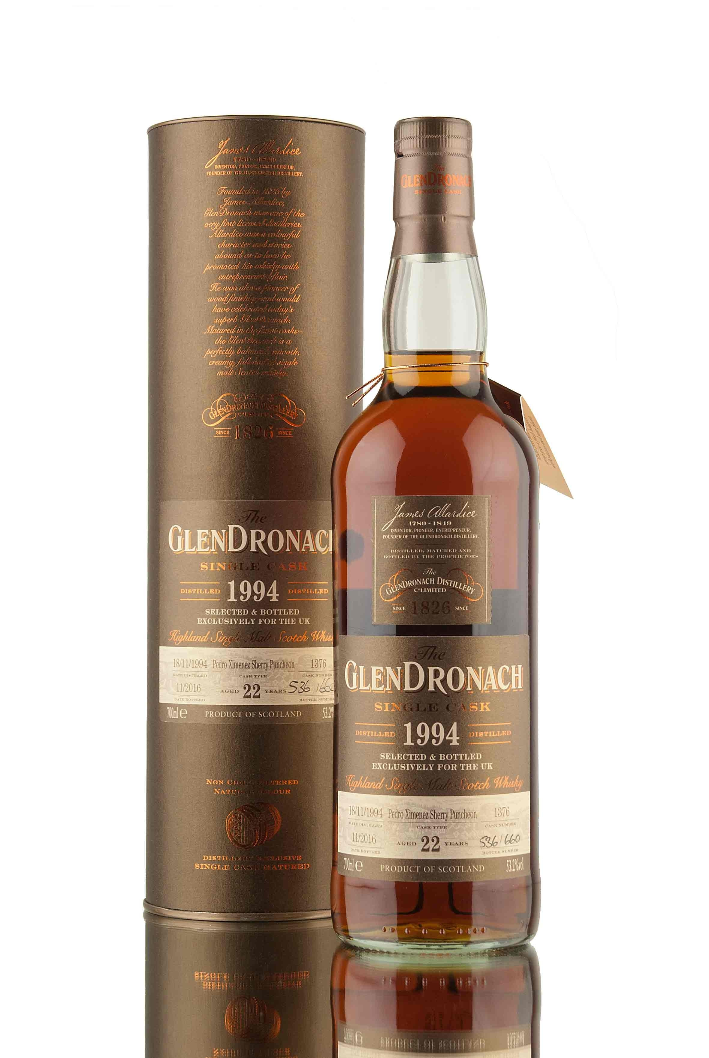 Glendronach 22 Year 1994 PX Cask UK Exclusive